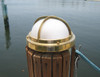 brass nautical round dock light