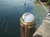 brass hooded nautical dock light