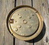 rear view of brass nautical round dock light