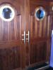 brass cleats used as door handles
