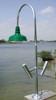 Aluminum Wharf Pole Dock Light-4 foot w/Dome Shade