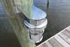 chrome shielded nautical dock sconce light