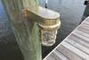 brass wall caged dock light