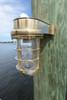 brass dock light sconce