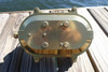rear view of large brass nautical oval dock light