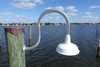 Aluminum wall mount small wharf pole light with dome shade