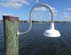 Marine grade wall mount wharf pole dock light