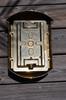 Rear view brass nautical light