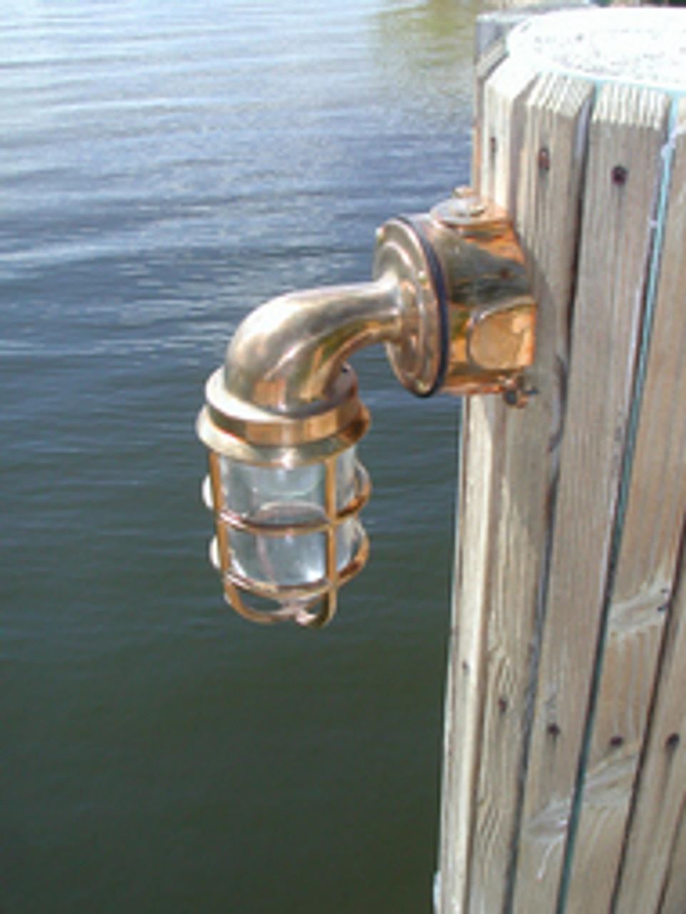 piling mounted passageway dock light