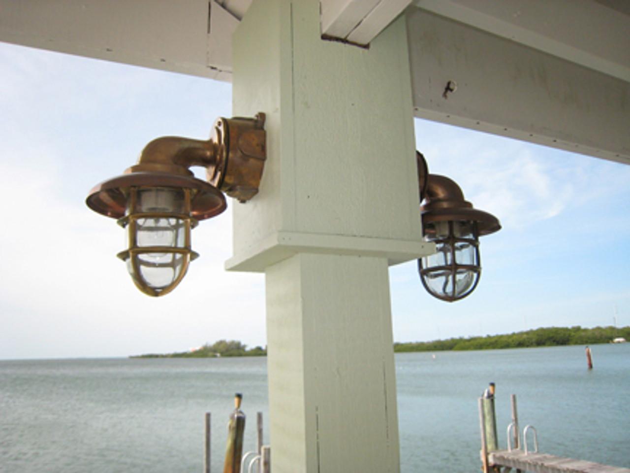 Dual passageway dock lights built for heavy duty use
