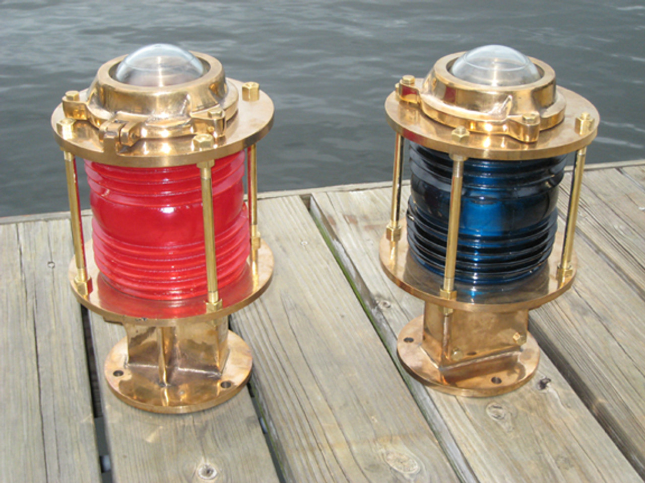 nautical dock piling lights
