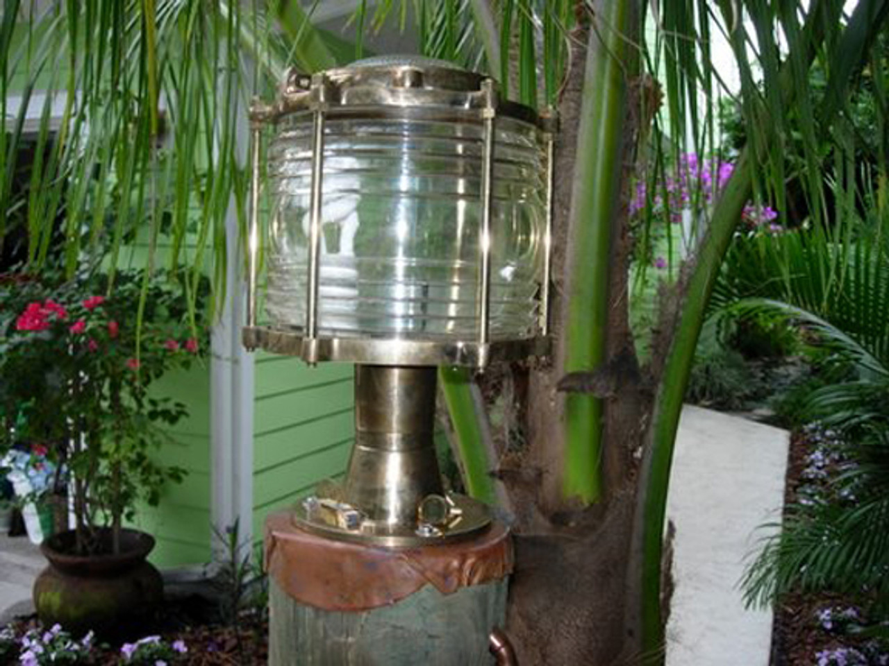 pedestal nautical dock light