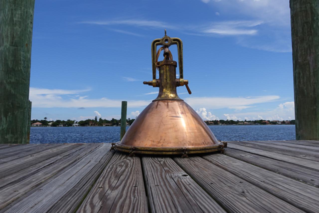 cargo hanging copper ship light