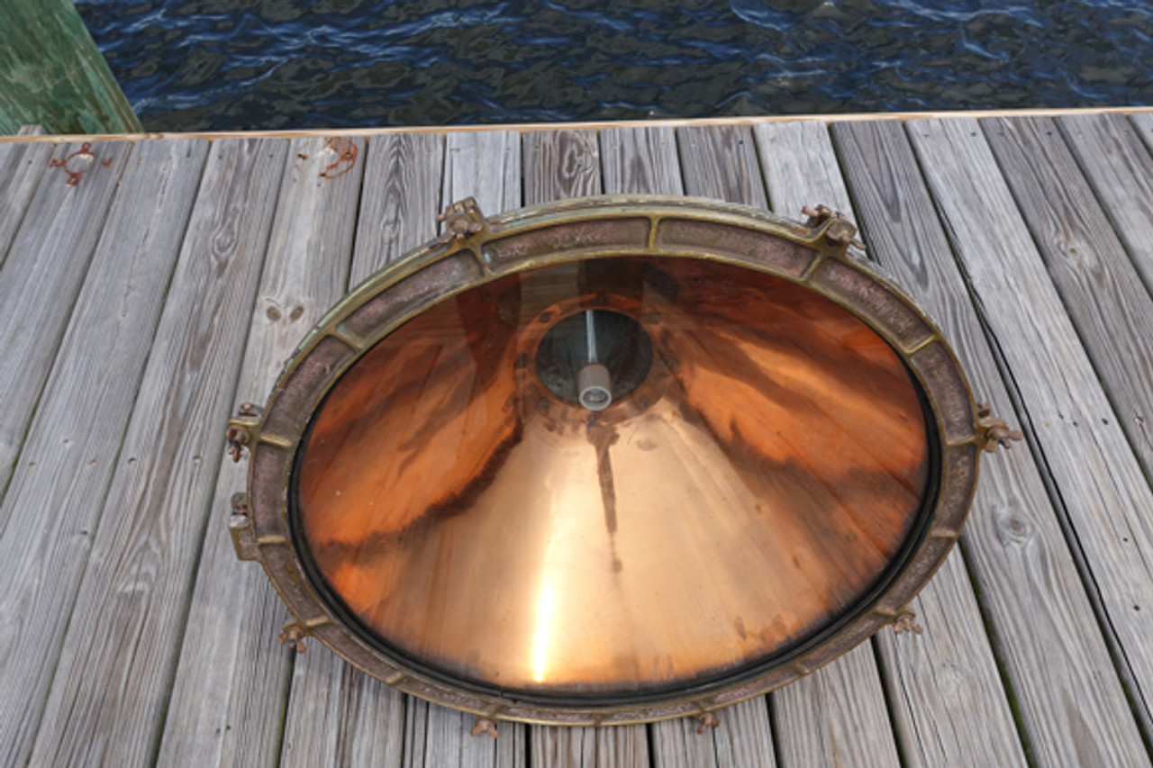 nautical decor polished copper ship light