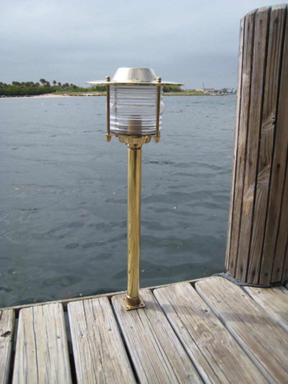 brass pathway dock light