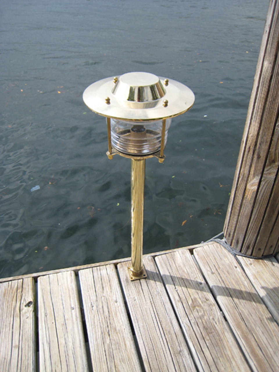 brass pathway nautical dock light
