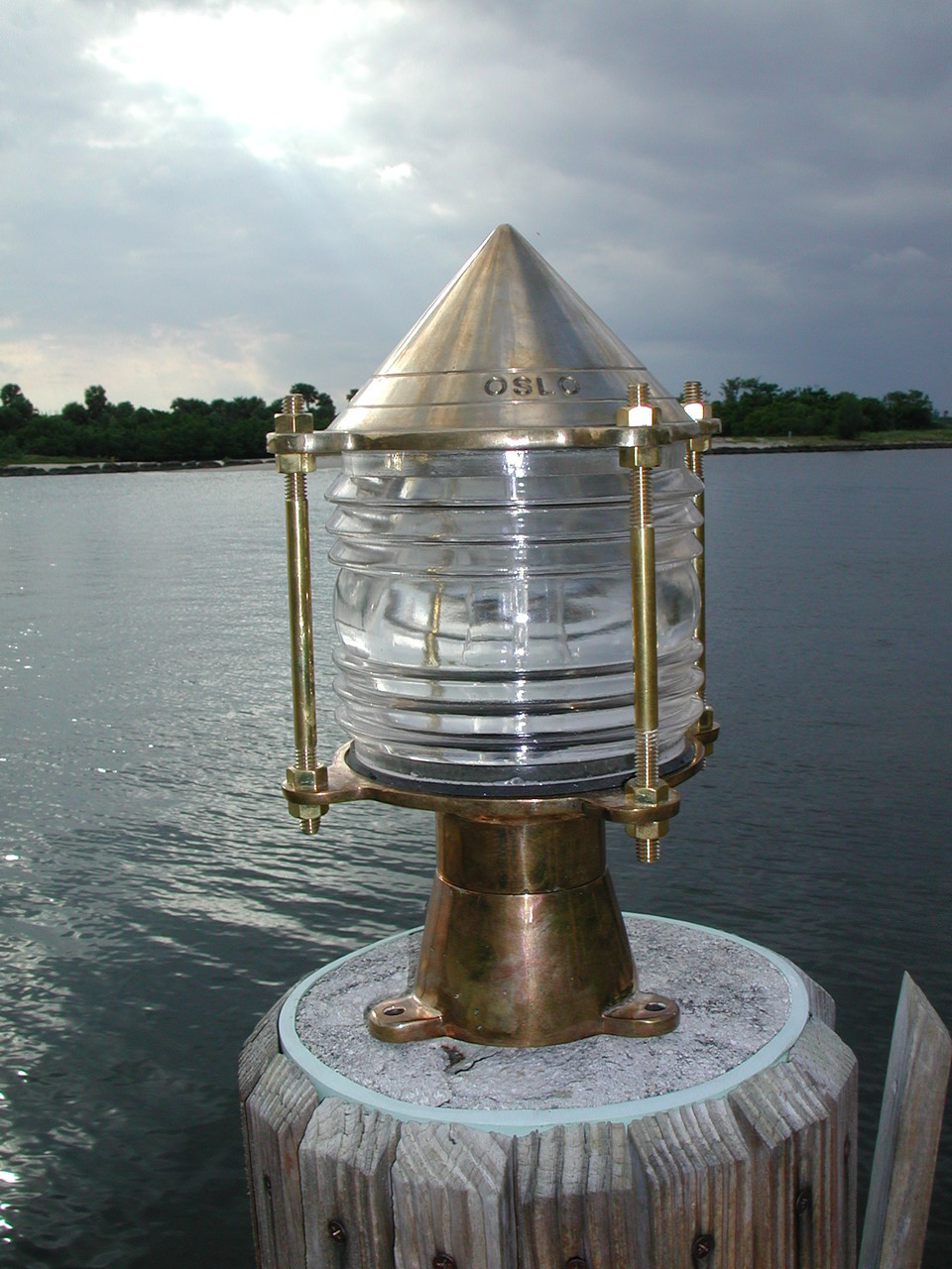 Key West piling dock light