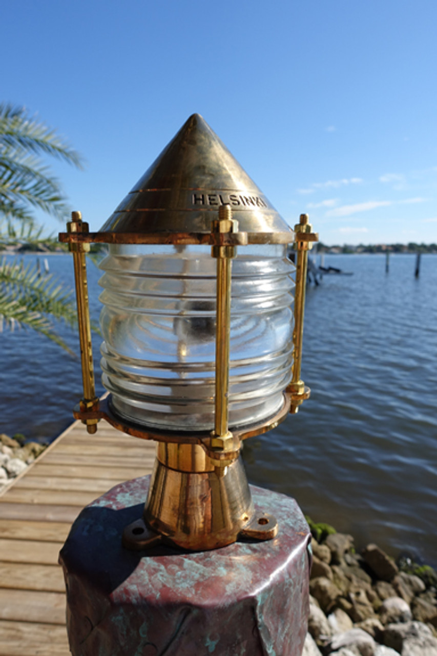 nautical key west piling dock light