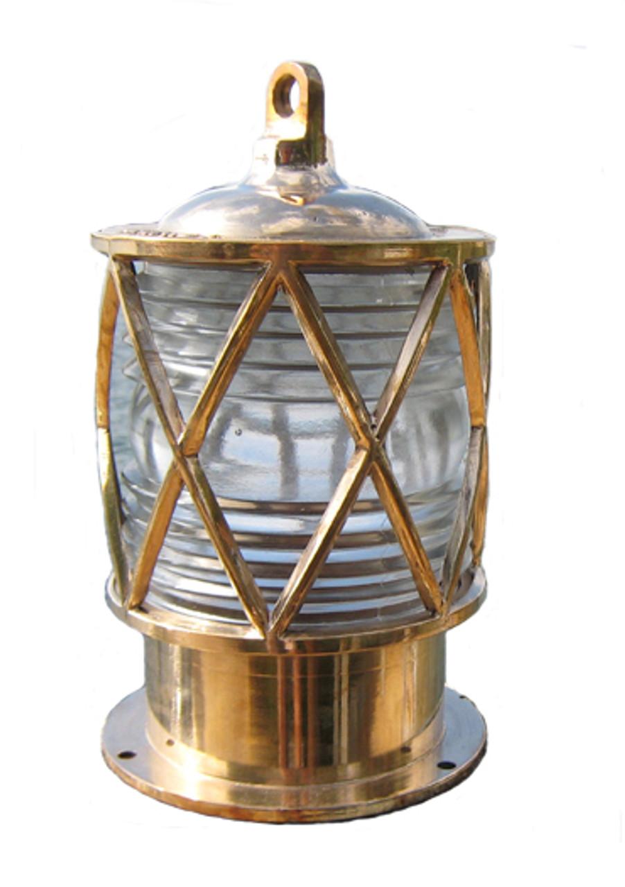 Bronze nautical dock piling light