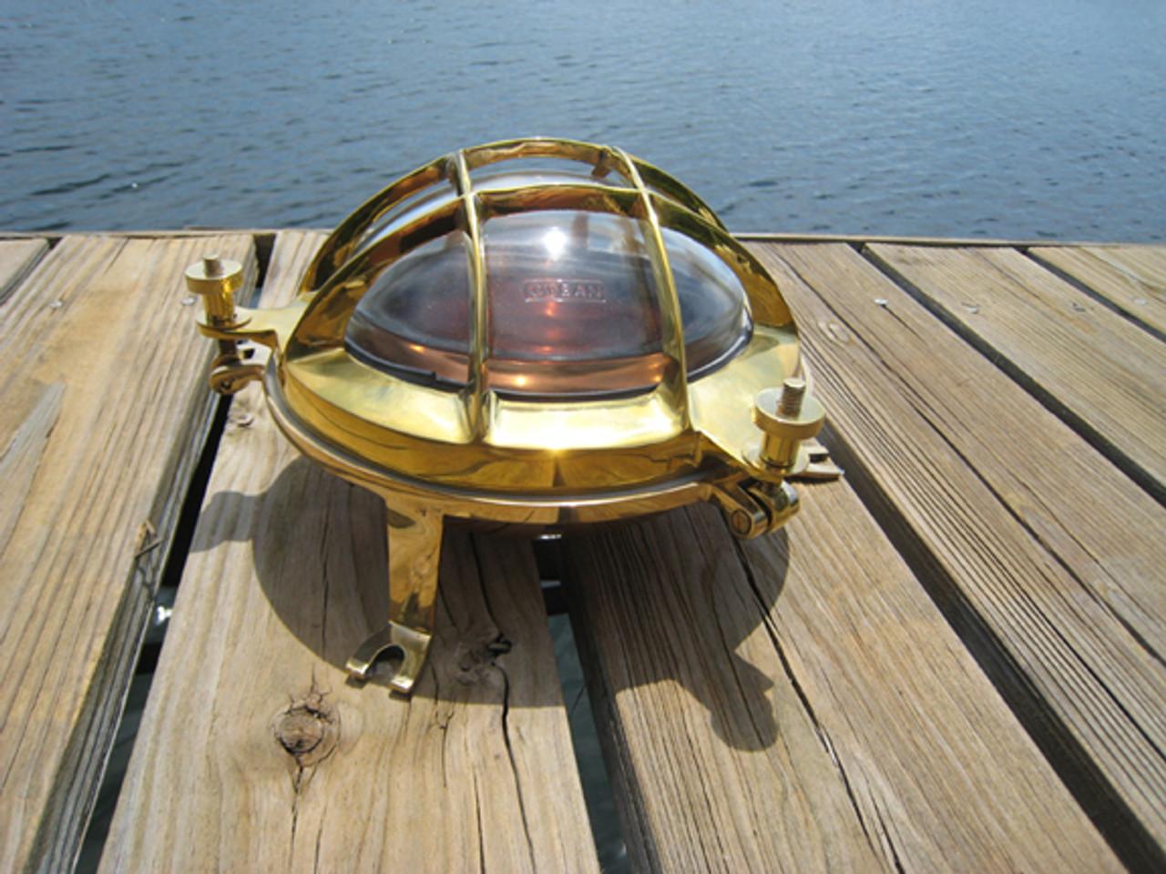 brass and copper marine bulkhead nautical light