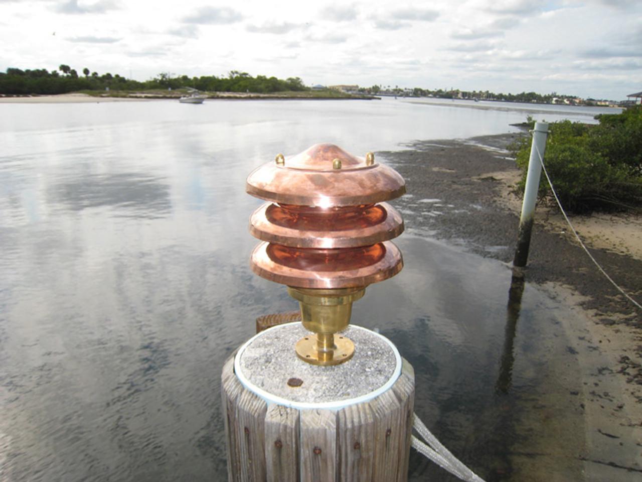 copper hooded dock light