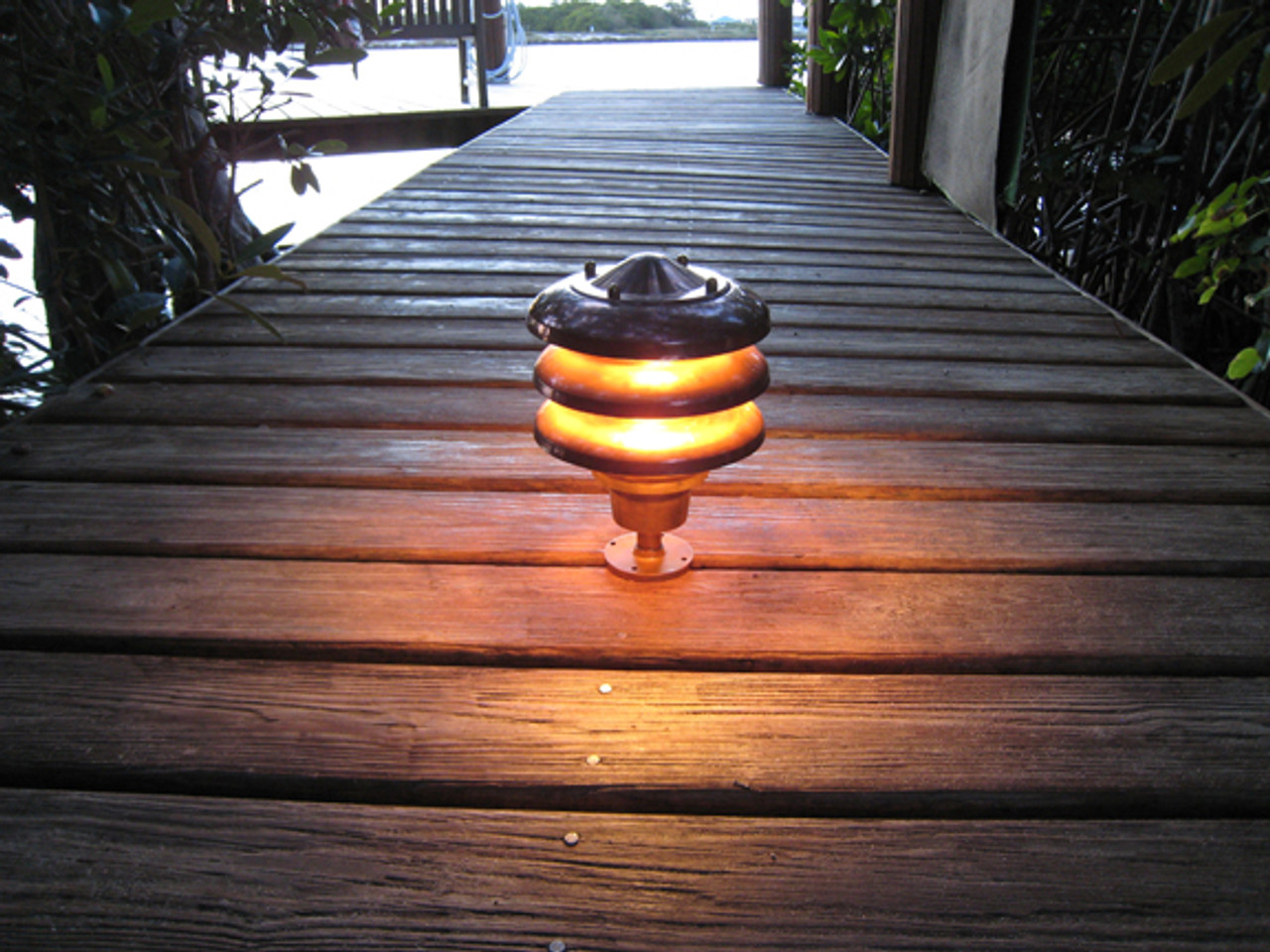 copper nautical pathway light
