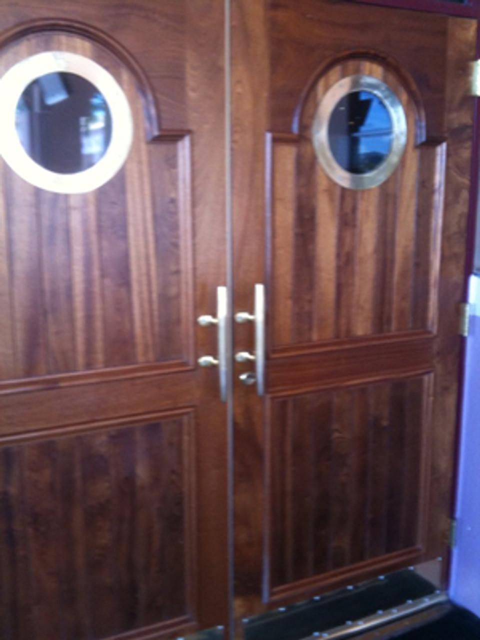brass nautical door handle cleats