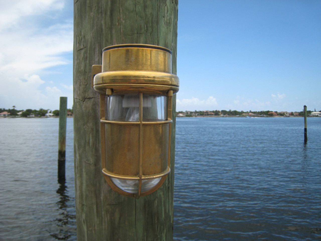 brass marine turtle dock light