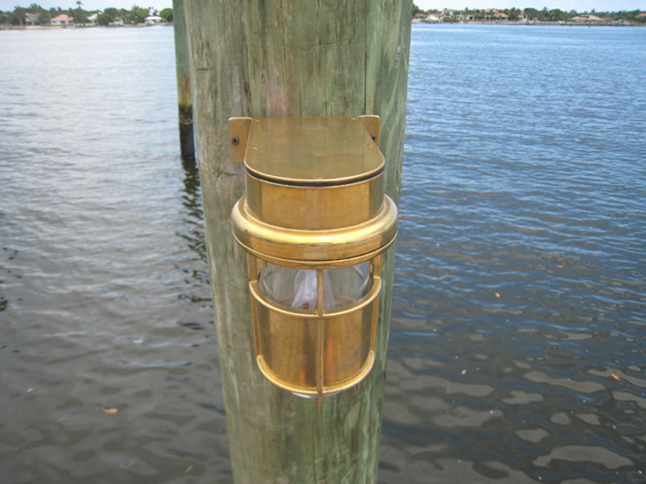 brass nautical turtle friendly dock light