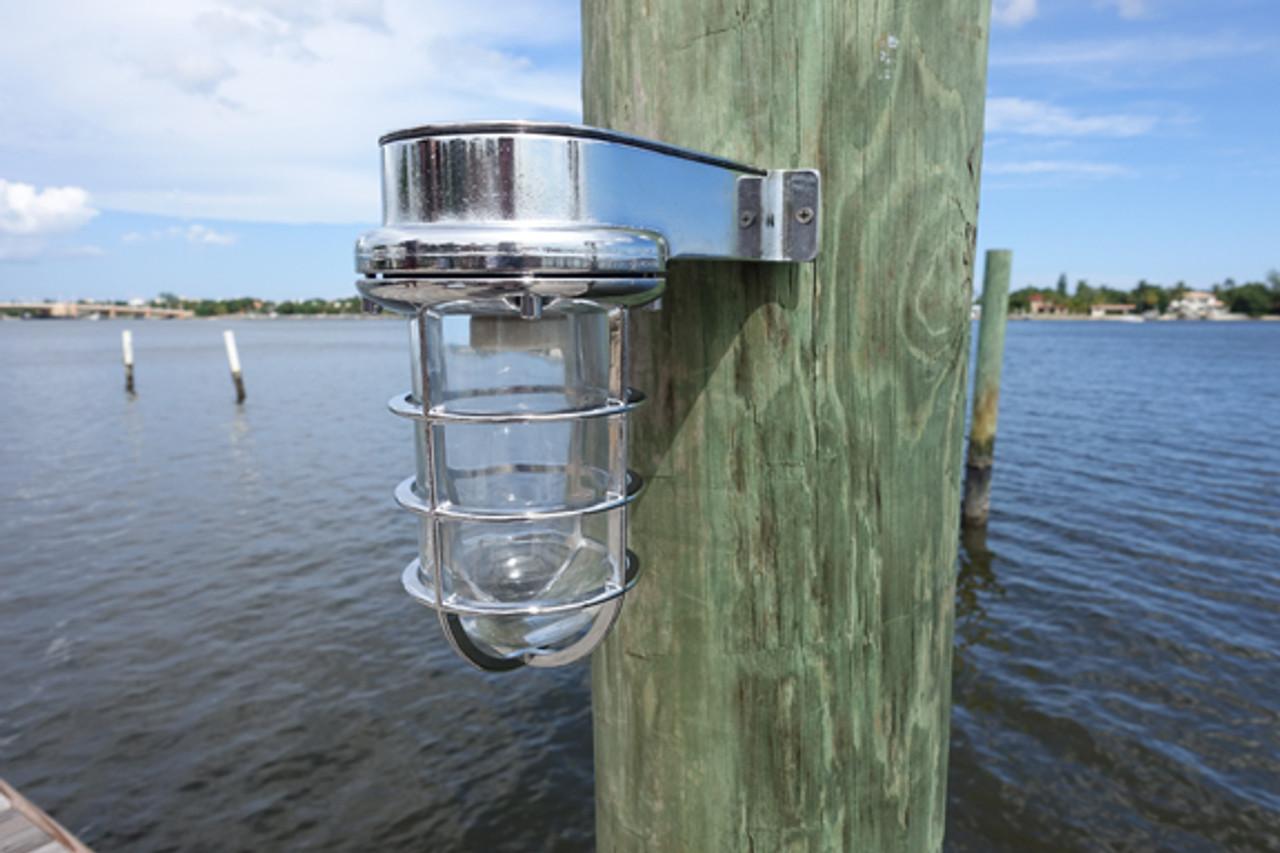 chrome nautical marine wall sconce