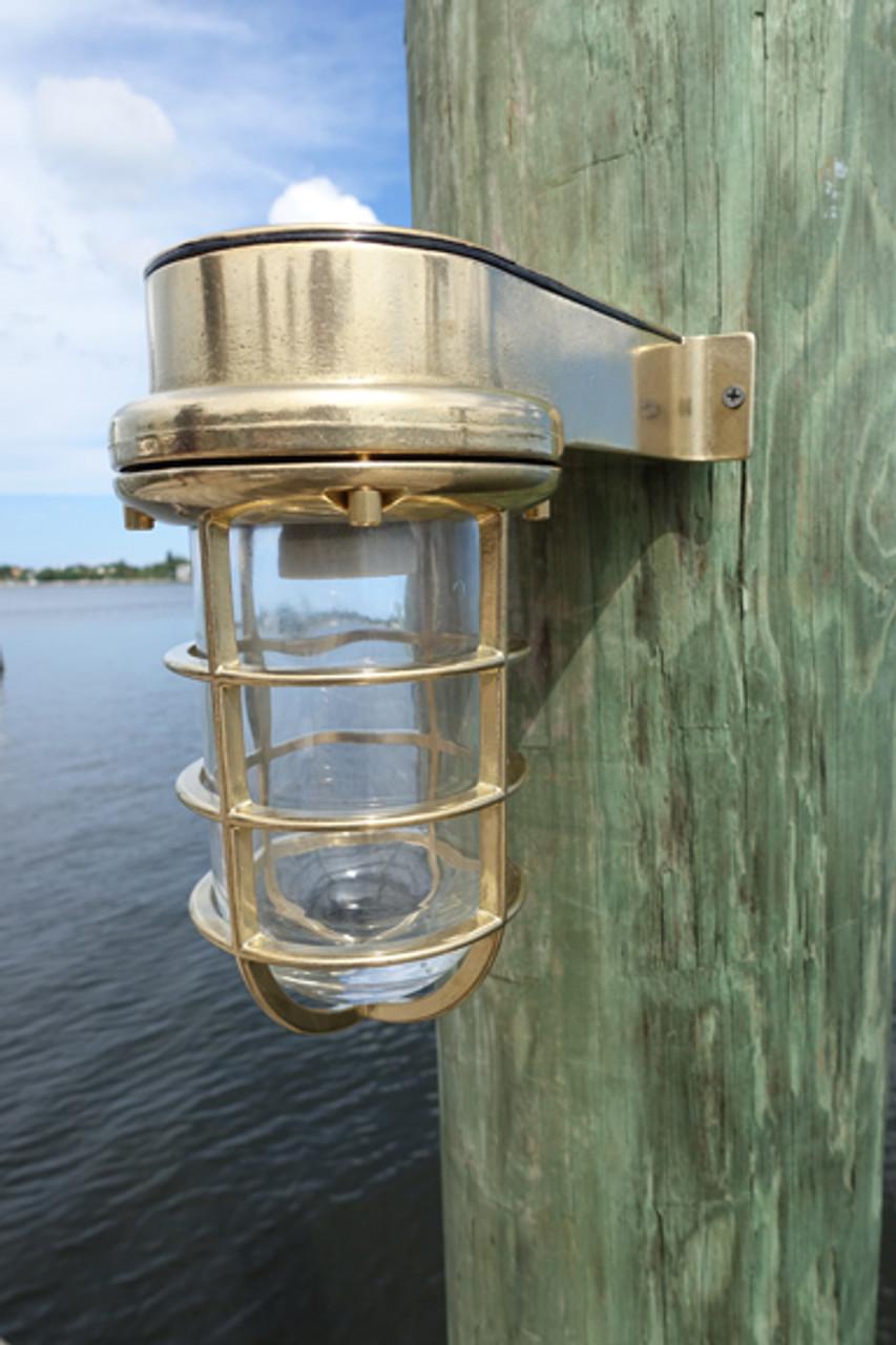 brass passageway marine dock light