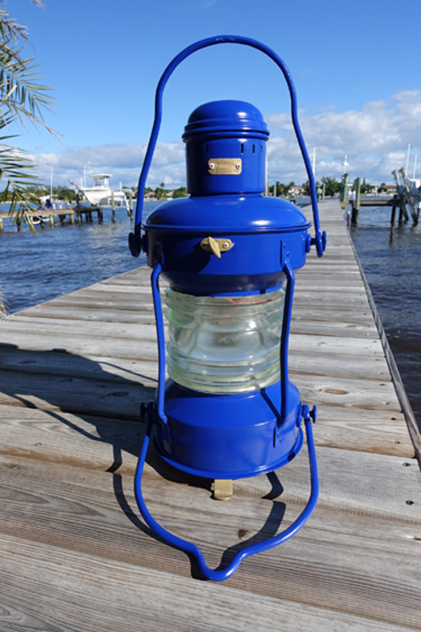 Satin Ink Blue colored ship's anchor light