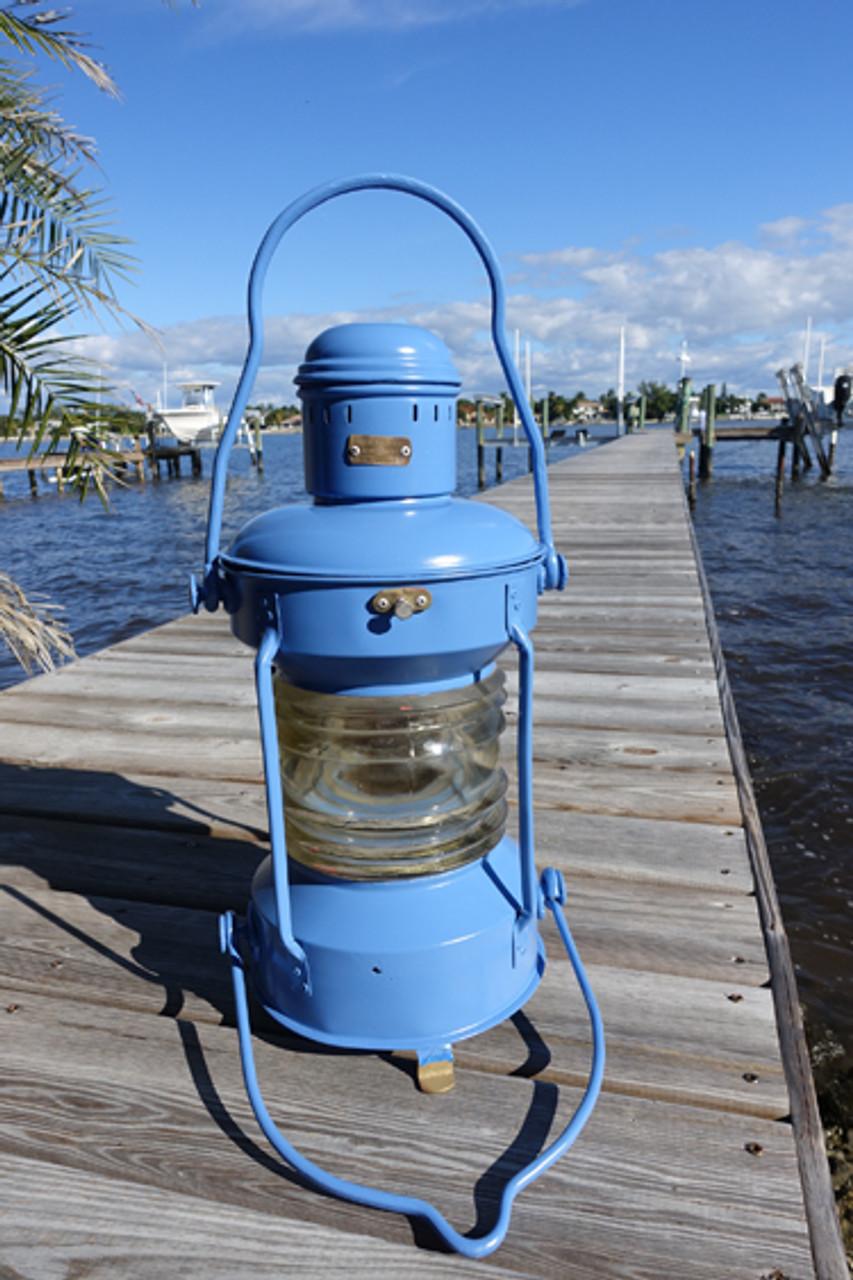 Wildflower Blue Nautical Anchor Ship's Light