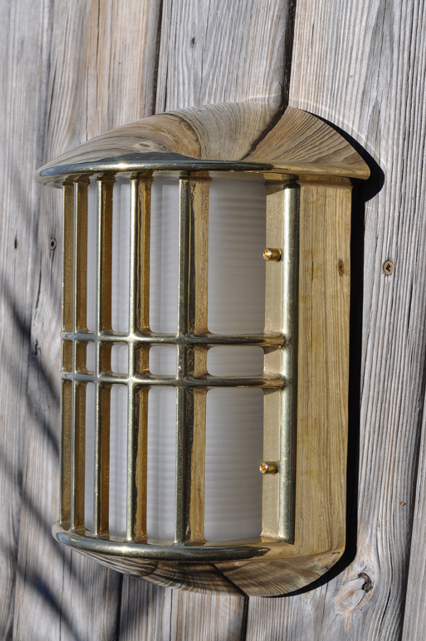 Side view brass nautical light