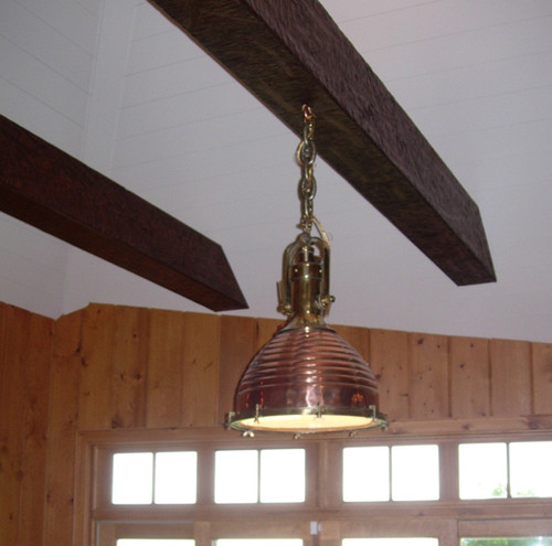 hanging copper nautical light