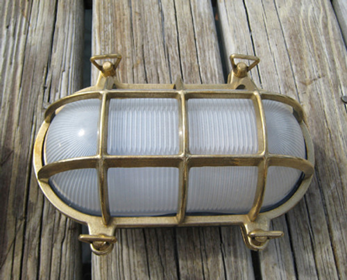 brass nautical bulkhead light