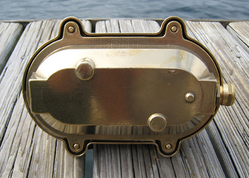 small brass nautical light