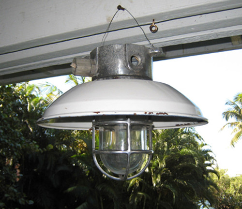 aluminum hooded nautical light