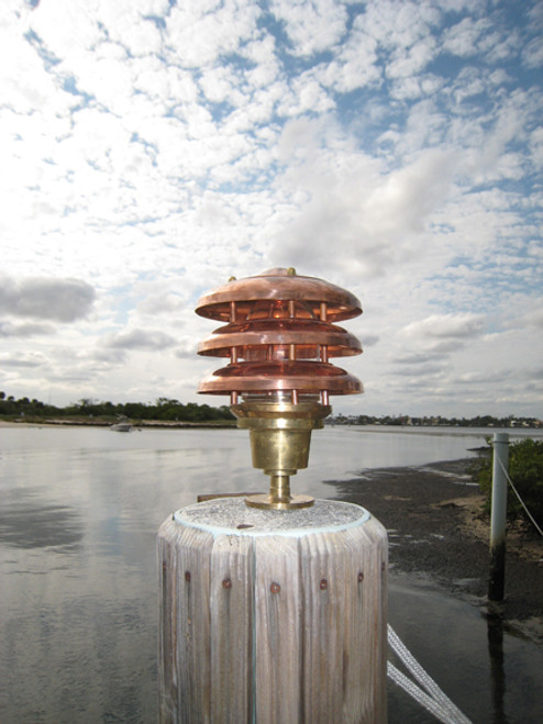 copper dock piling light