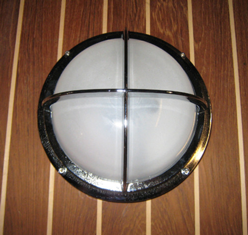 Chrome round nautical light