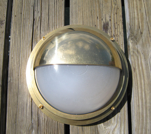 Brass turtle dock light