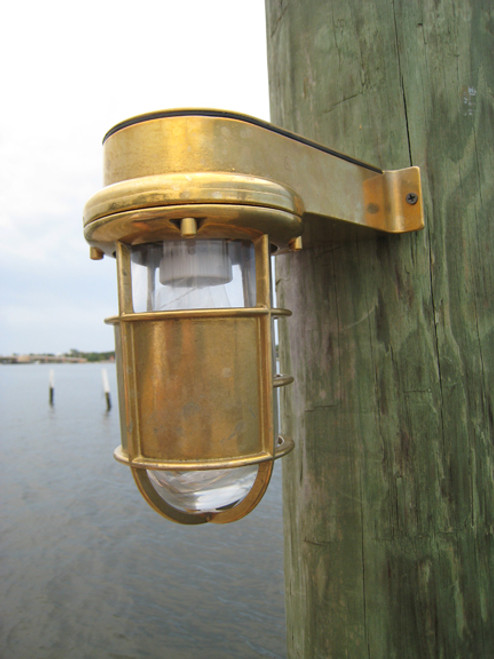 nautical turtle dock light sconce