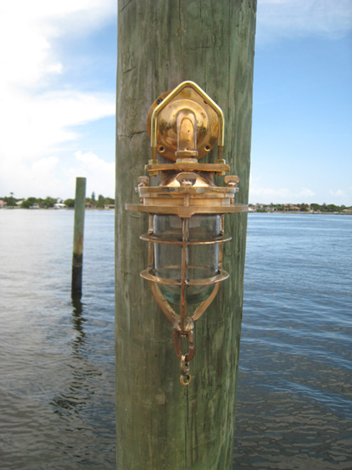 Nautical marine wall mount dock light