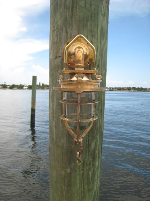 Nautical marine wall mount dock light