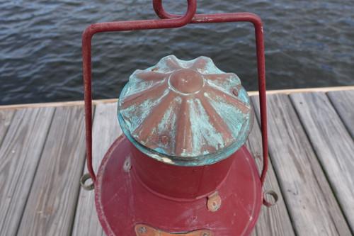 Galvanized XL Anchor Ship's light-Red