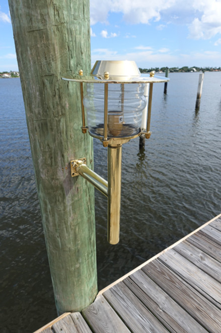 brass European nautical sconce light