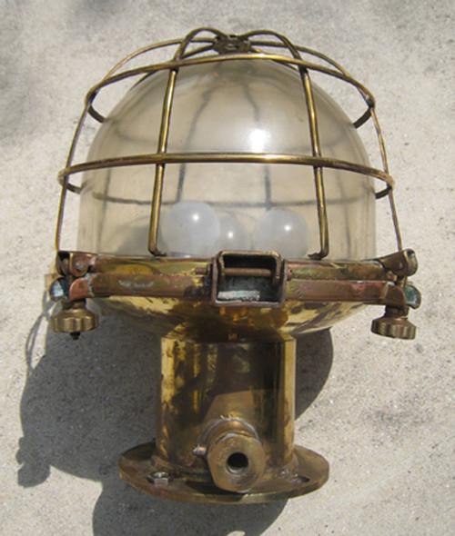 vintage caged nautical light