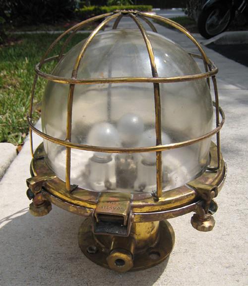 vintage brass ship light