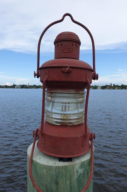 original ship's lantern.  Nautical decor marine lantern.