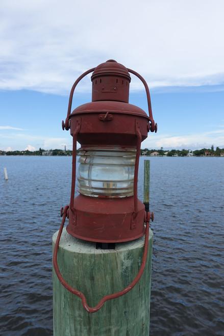Large Nautical Decor Galvanized Anchor Lantern-Primer color